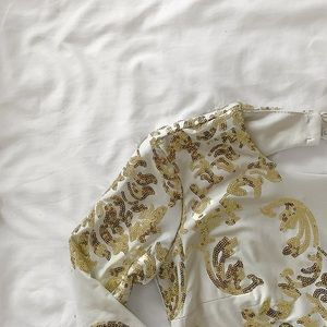 B. Darlin white and gold sequin dress